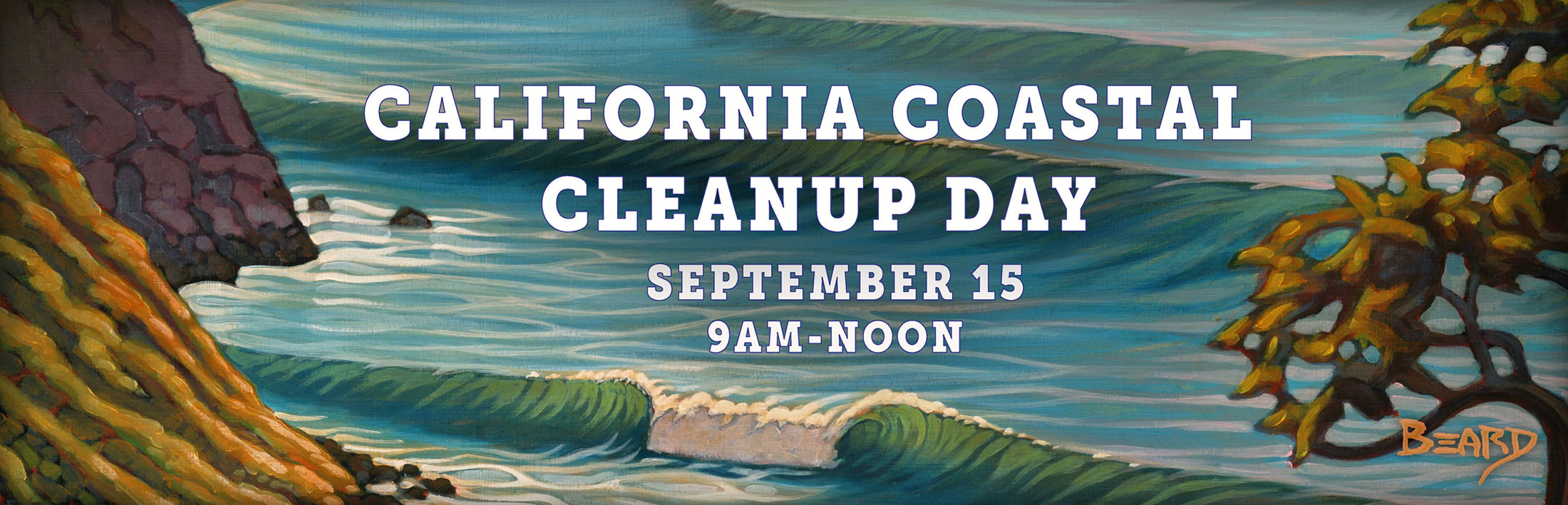 California Coastal Cleanup Day is September 15, 9am-noon