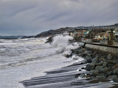 King tides view from Pacifica Pier, by Jack Sutton