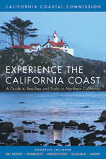 Picture of book cover to Experience the California Coast: A Guide to Beaches and Parks in Northern California, Counties Included: Del Norte, Humboldt, Mendocino, Sonoma, Marin with link to further information