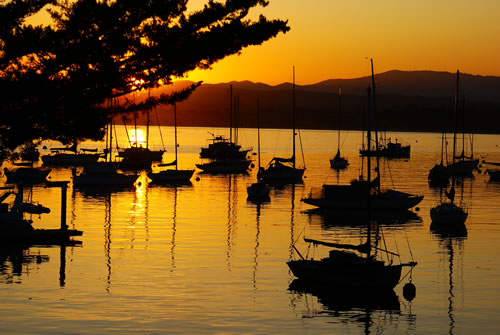 Harbor Sunrise, Monterey Wharf. Photo ©David Harbin