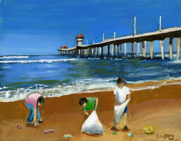 Californians Cleaning the Coast by Leo Yang, 9th grade, Arcadia